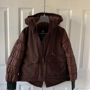 Columbia Omni heat puff sleeves hooded jacket M